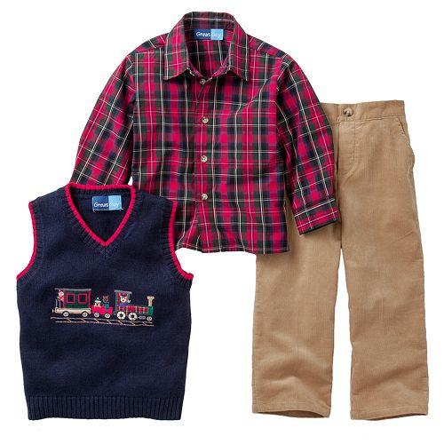3f12cd5ff Great Guy Train Sweater Vest Set - Toddler
