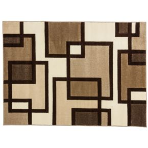 Infinity Home Ruby Imagination Squares Rug - 5'3'' x 7'3''