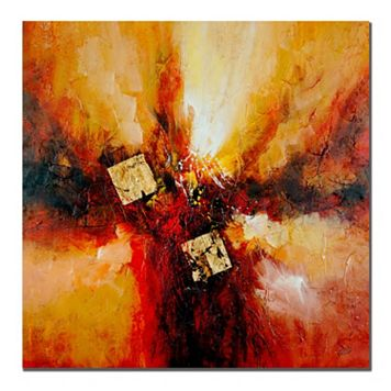 24'' x 24'' ''Cube Abstract I'' Canvas Wall Art