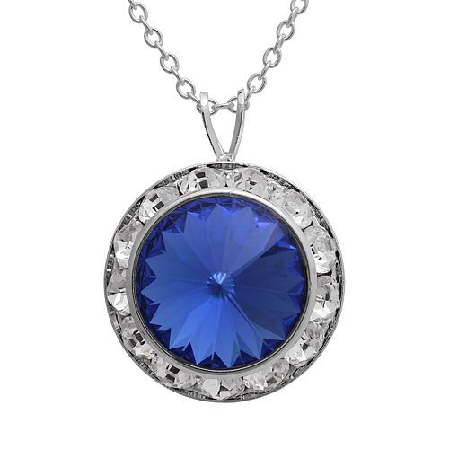 Illuminaire Crystal Silver-Plated Halo Pendant - Made with Swarovski Crystals