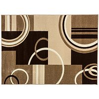 Infinity Home Ruby Galaxy Waves Rug - 5'3'' x 7'3''