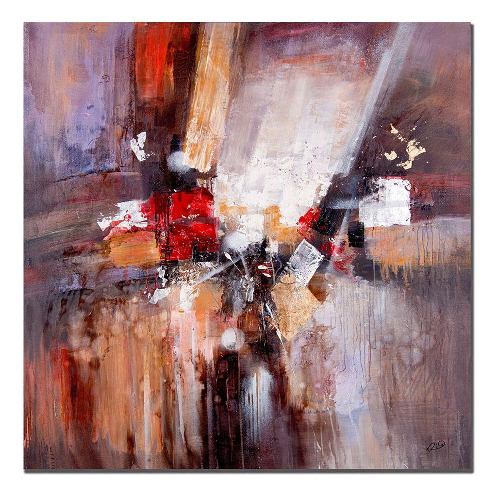35'' x 35'' ''Cube Abstract II'' Canvas Wall Art