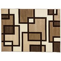 Infinity Home Ruby Imagination Squares Rug - 7'10'' x 9'10''