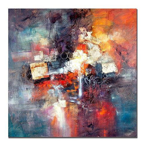35'' x 35'' ''Cube Abstract III'' Canvas Wall Art