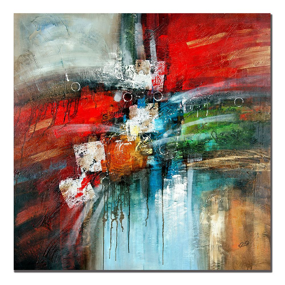 35'' x 35'' ''Cube Abstract IV'' Canvas Wall Art