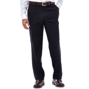 Men's Haggar® eCLo Stria Stretch Slim-Fit Flat-Front Dress Pants