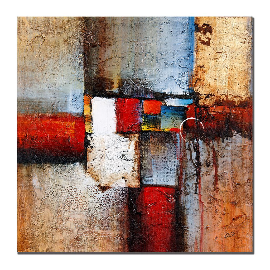 35'' x 35'' ''Cube Abstract VI'' Canvas Wall Art