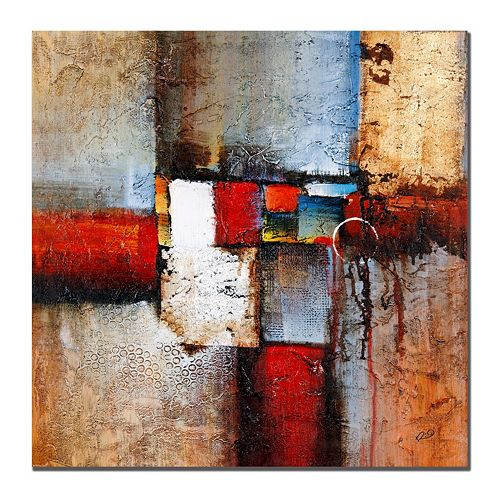 35'' x 35'' ''Cube Abstract VI'' Canvas Wall Art