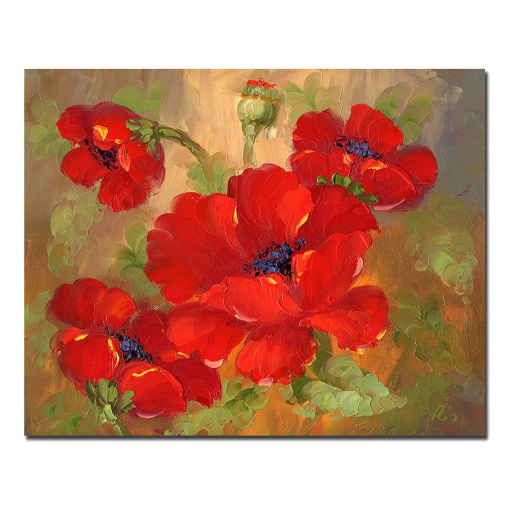 30'' x 47'' ''Poppies'' Canvas Wall Art