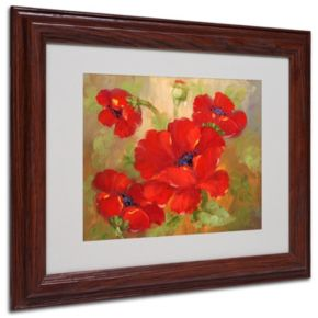 11'' x 14'' ''Poppies'' Framed Canvas Wall Art