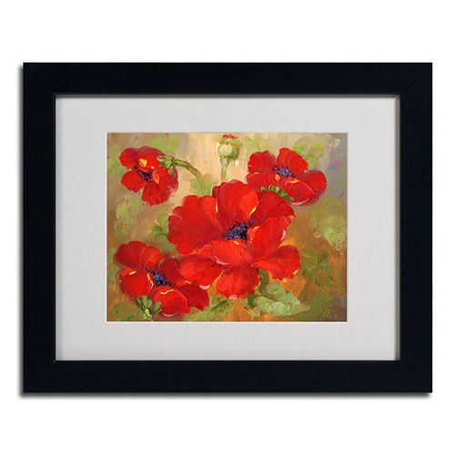 11\'\' x 14\'\' \'\'Poppies\'\' Framed Canvas Wall Art
