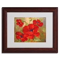 11'' x 14'' ''Poppies'' Framed Canvas Wall Art