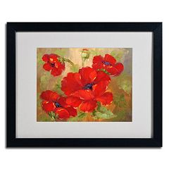 16'' x 20'' ''Poppies'' Framed Canvas Wall Art
