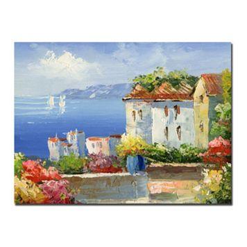 35'' x 47'' ''Mediterranean Villa'' Canvas Wall Art