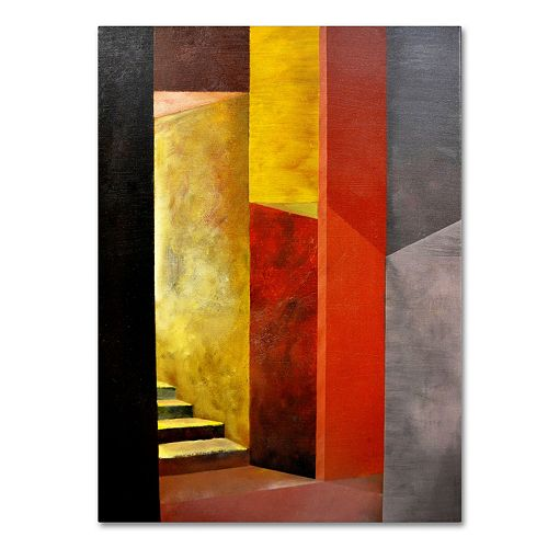 19'' x 14'' ''Mystery Stairwell'' Canvas Wall Art by Michelle Calkins