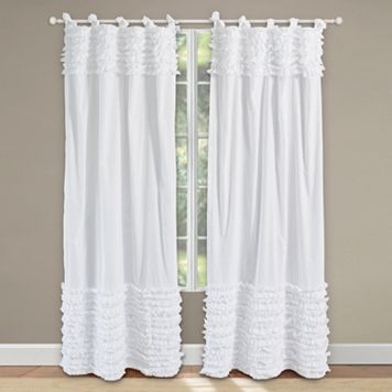 Lush Voile Ruffled Window Curtains - 42'' x 84''