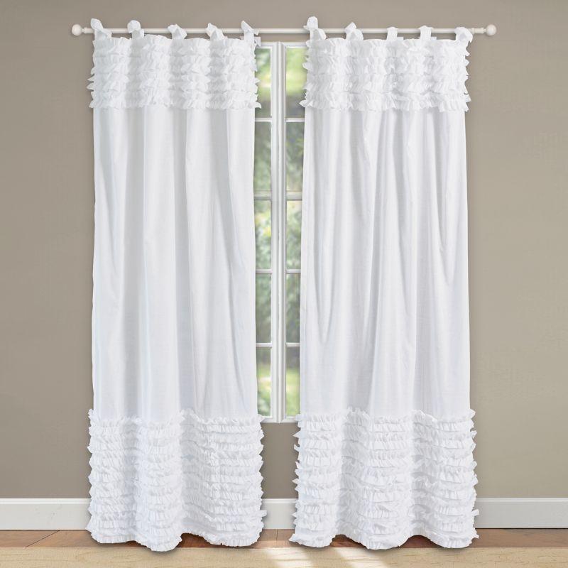 Ruffle Curtains 108 Lush Voile Ruffled Curtains