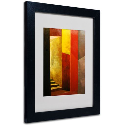 14'' x 11'' ''Mystery Stairwell'' Framed Canvas Wall Art by Michelle Calkins