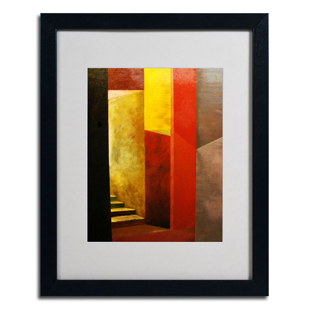 20'' x 16'' ''Mystery Stairwell'' Framed Canvas Wall Art by Michelle Calkins
