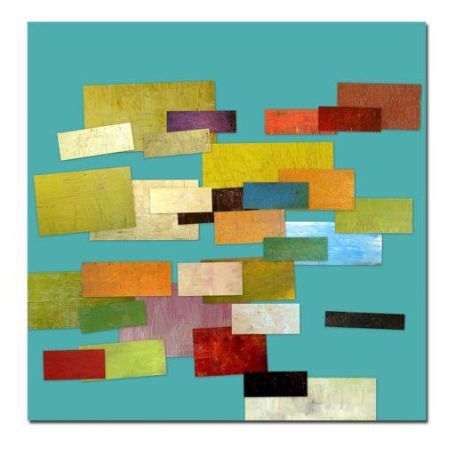 24'' x 24'' ''Scrambled Eggs'' Abstract Canvas Wall Art