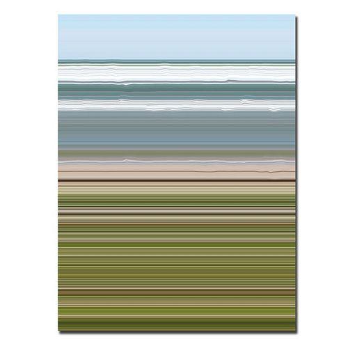 18'' x 24'' ''Sky Water Beach Grass'' Abstract Canvas Wall Art
