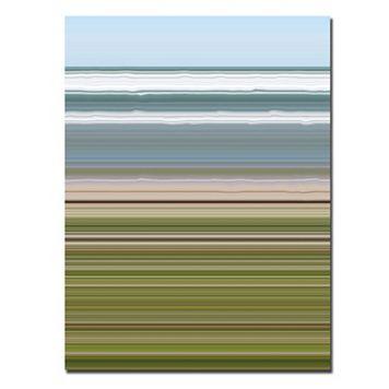 24'' x 32'' ''Sky Water Beach Grass'' Abstract Canvas Wall Art