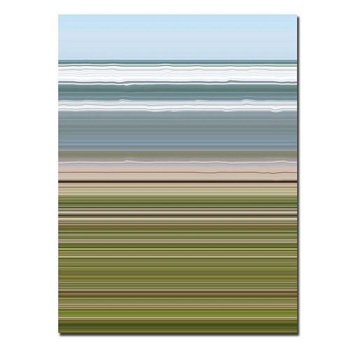 24'' x 32'' ''Sky Water Beach Grass'' Abstract Canvas Wall Art