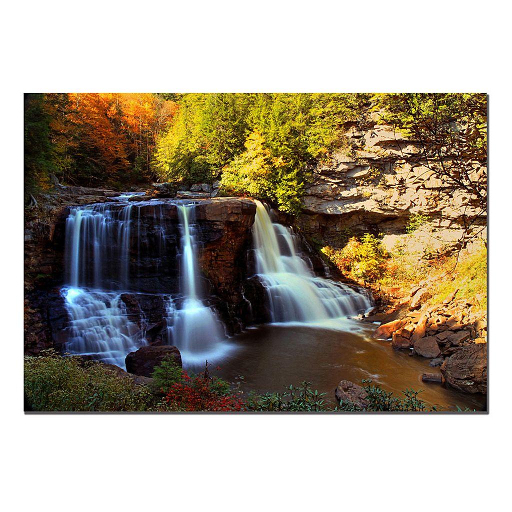 22'' x 32'' ''Motion'' Waterfall Canvas Wall Art