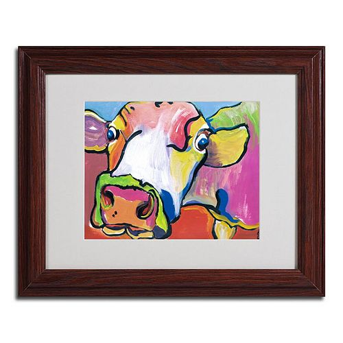11'' x 14'' ''Cold Hands'' Cow Framed Canvas Wall Art