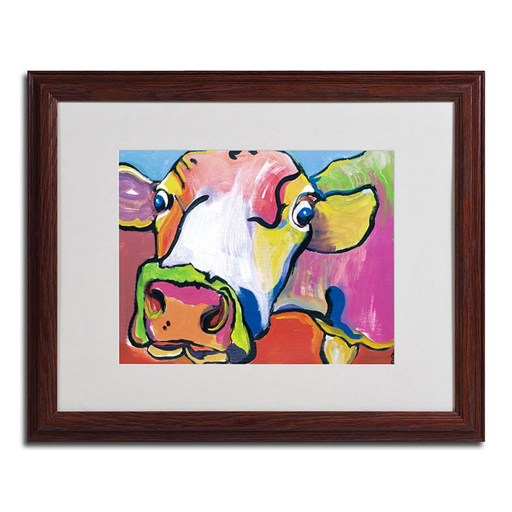 16'' x 20'' ''Cold Hands'' Cow Framed Canvas Wall Art