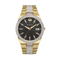 Bulova Men's Crystal Stainless Steel Watch - 98B235