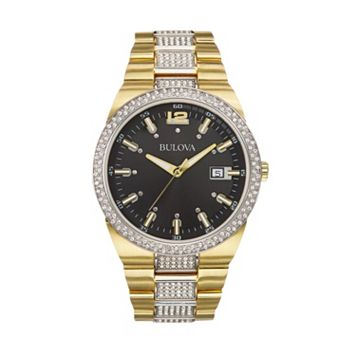 Bulova Men's Crystal Stainless Steel Watch - 98B235