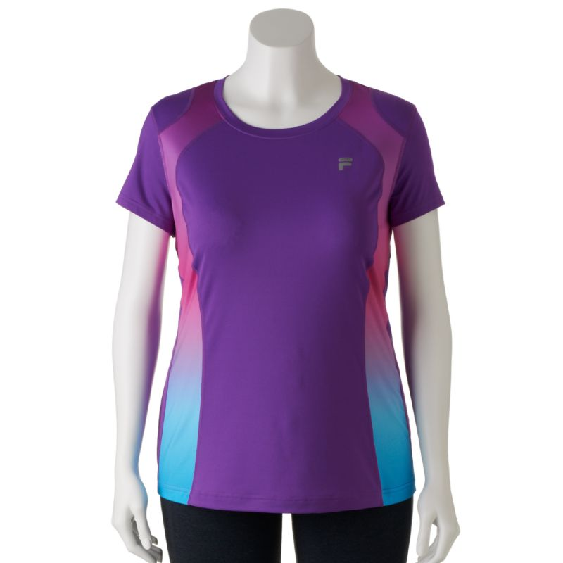 FILA SPORT Ombre Inset Workout Tee - Women's Plus Size