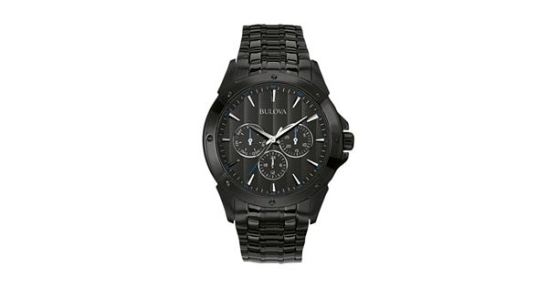 Bulova men 39 s stainless steel watch 98c121 for Watches kohls
