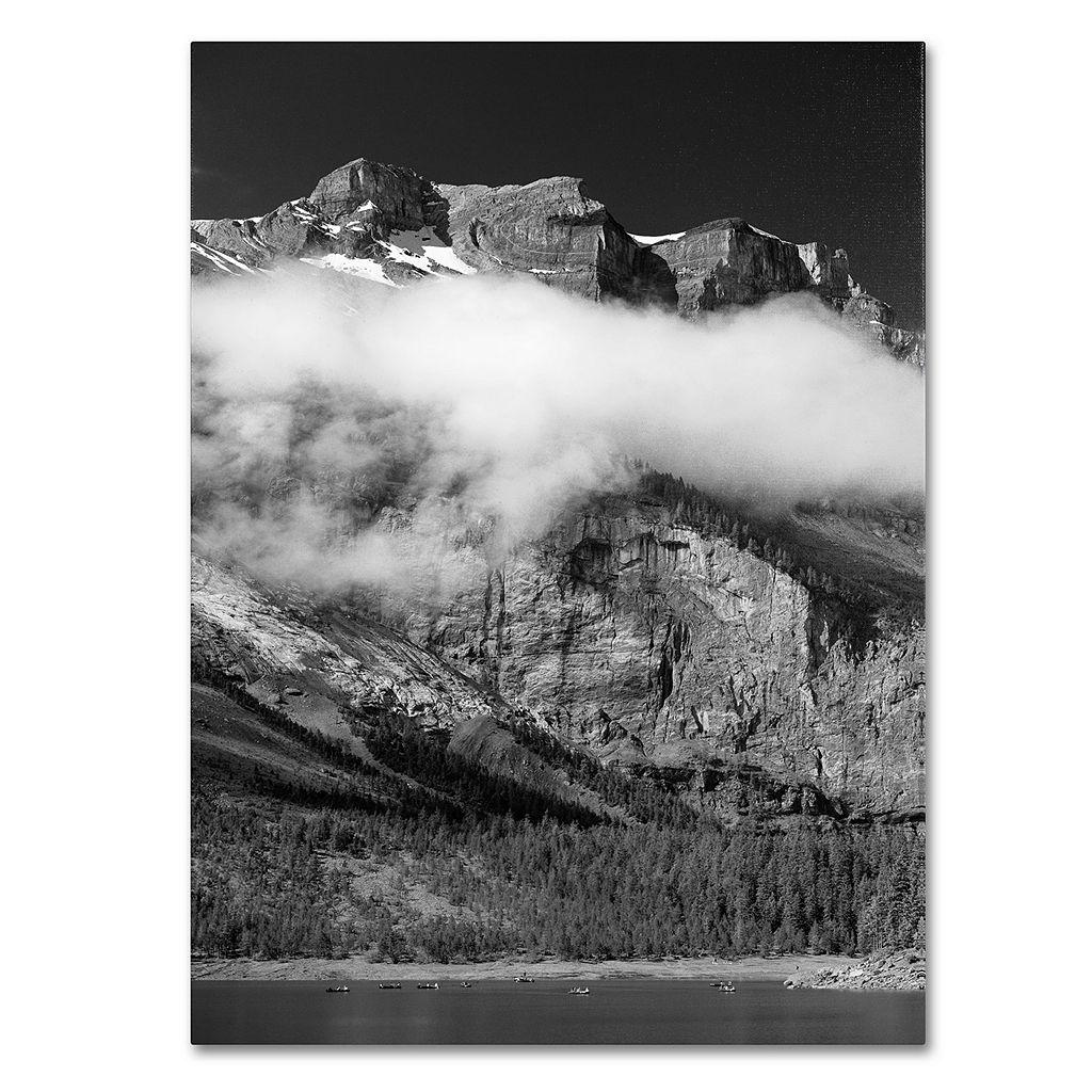 16'' x 24'' ''Last Call Switzerland'' Mountains Canvas Wall Art