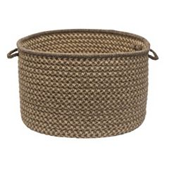Colonial Mills Natural Wool Check 14' x 10' Utility Basket