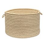 """Colonial Mills Natural Wool Check 14"""" x 10"""" Utility Basket"""