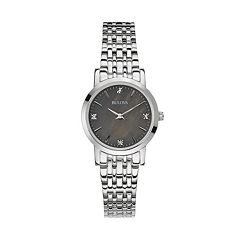 Bulova Women's Diamond Stainless Steel Watch - 96P148