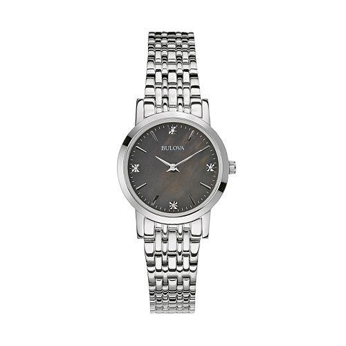 Bulova Women's Diamond Stainless Steel Watch - 96P148