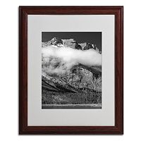 20'' x 16'' ''Last Call Switzerland'' Mountains Framed Canvas Wall Art