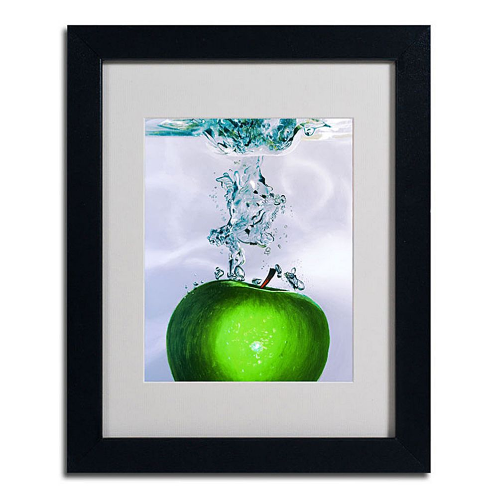 14'' x 11'' ''Apple Splash II'' Framed Canvas Wall Art
