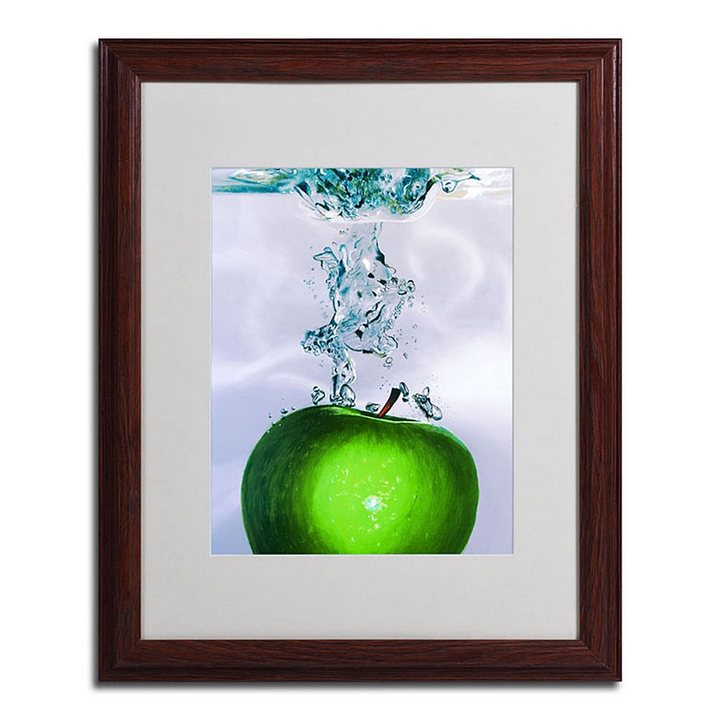 20'' x 16'' ''Apple Splash II'' Framed Canvas Wall Art