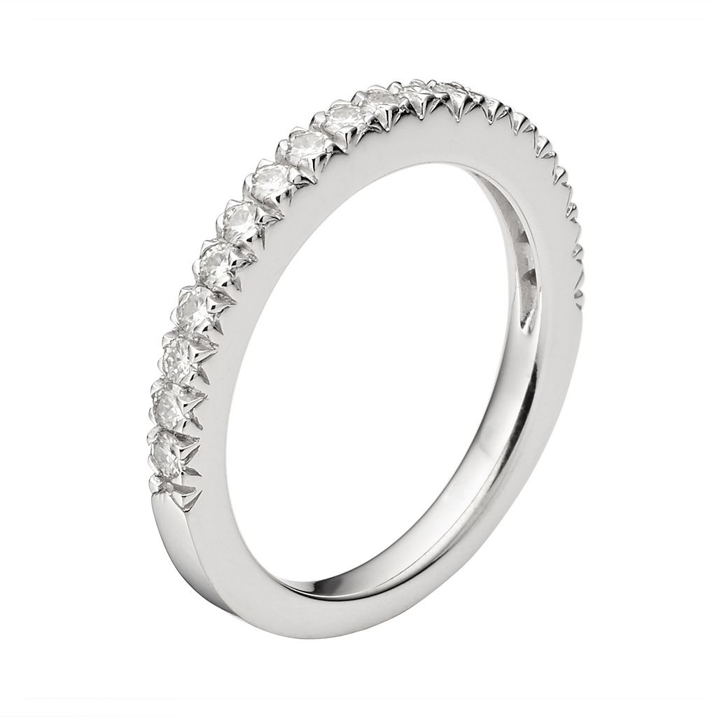 Forever Brilliant Lab-Created Moissanite Wedding Ring in 14k White Gold (1/3 Carat T.W.)