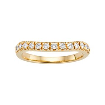 Forever Brilliant Lab-Created Moissanite Wedding Ring in 14k Gold (1/3 Carat T.W.)