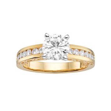 Forever Brilliant Lab-Created Moissanite Engagement Ring in 14k Gold (1 1/2 Carat T.W.)