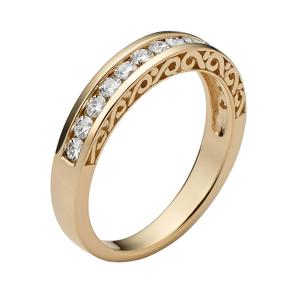 Forever Brilliant Lab-Created Moissanite Wedding Ring in 14k Gold (3/8 Carat T.W.)