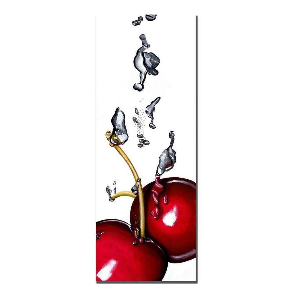 ''Cherry Splash II'' Canvas Wall Art