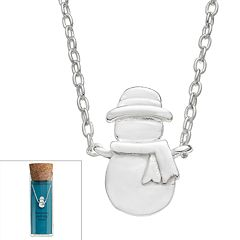Sterling Silver Snowman Necklace