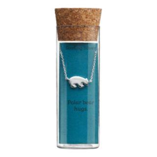 Sterling Silver Polar Bear Necklace