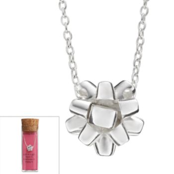 Sterling Silver Christmas Bow Necklace